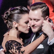 Maxim Gerasimov e Agustina Piaggio, campioni del mondo di Tango Pista. Al quinto posto, Letizia Messina e Carlos Estigarribia